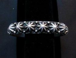 Navajo Sterling Silver Star Studded Bracelet, Happy Piasso, Medium