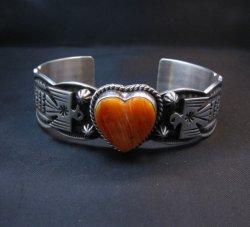 Andy Cadman Navajo Spiny Oyster Heart Thunderbird Bracelet