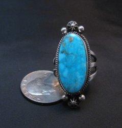 Navajo Native American Turquoise Silver Ring sz9-1/4 by Geneva Apachito