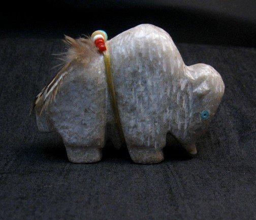 Image 1 of Zuni Fetish - Buffalo - Marble