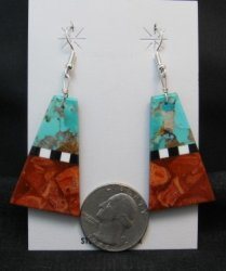 Santo Domingo MultiGem Inlaid Earrings, Robert Coriz