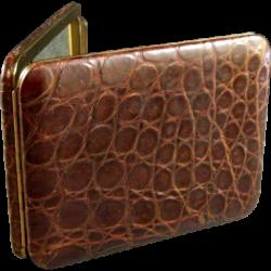 Lin Bren Rogers Alligator Cigarette Case Mid Century
