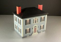 Windfield Designs Colonial House Card File Jewelry Recipe Box