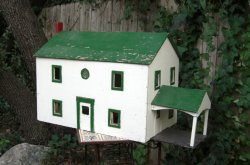 American Folk Art Dollhouse / HUGE Handmade Early Mid Century Treasure