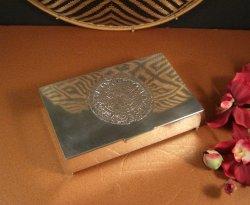 Mexican Sterling Silver Cigarette Box / M.R.R. / 485 grams