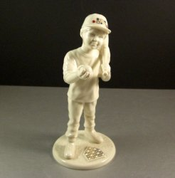 Vintage Lenox China Jewels CJ MVP Baseball Boy Figurine as New
