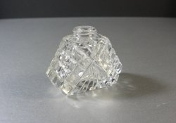 Vintage Crystal Cut Glass Perfume Bottle