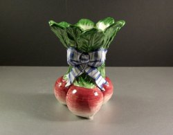 Turnip Utensil Holder in Vegetable Bowquet by Fitz and Floyd / 1995