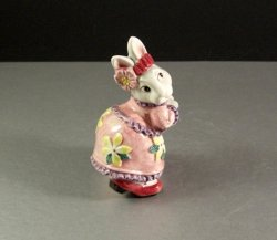 Fitz and Floyd Cotton Tailors Easter Bunny Salt or Pepper Shaker 1995