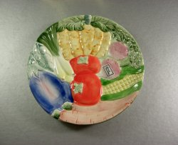 Fitz and Floyd Vegetable Garden Canape Salad Sandwich Plate 1986