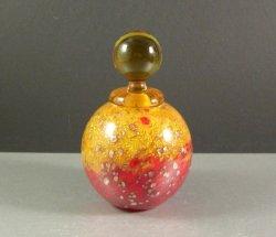 Signed Moretti Murano Art Glass Scent Perfume Bottle / STUNNING Vibrant Aventuri