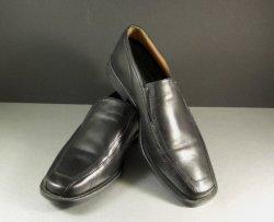 Men's GEOX Black Dress Loafers Shoes Size 9.5 = 43.5 EU