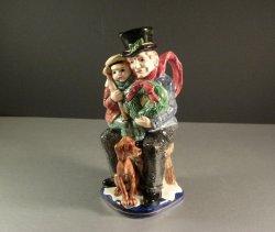 Fitz and FLoyd Christmas Carol Bob Cratchet Crachit Toby Pitcher 1993