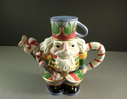 Fitz and Floyd Nutcracker Sweets Cocoa Pot / Christmas Decor