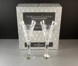 Waterford Millennium Collection Toasting Flutes Celebrating all Five Toasts