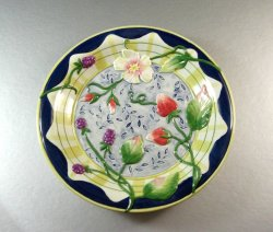 Fitz and Floyd Somerset Summer Flowers Canape Plate Dish Tray