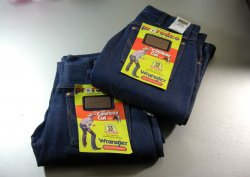 2 Pair Mens Wrangler Pro Rodeo Denim Jeans 32 X 34 / 13 Ounce Denim