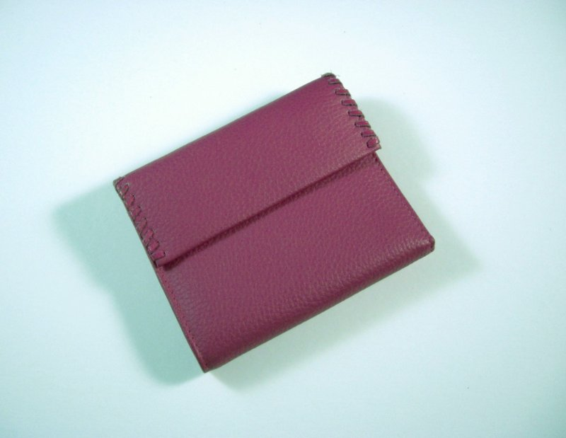 Image 0 of Buxton Bright Pink Leather Wallet Tri fold w/ flap and back zip coin pocket
