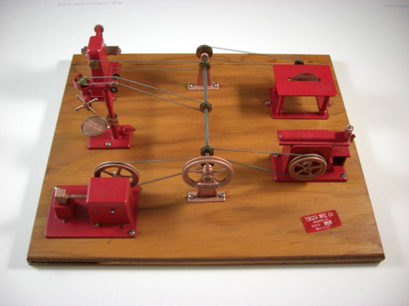 Image 0 of DV Jensen MFG Company Style 100 Steam Driven Manufacturing Plant Model
