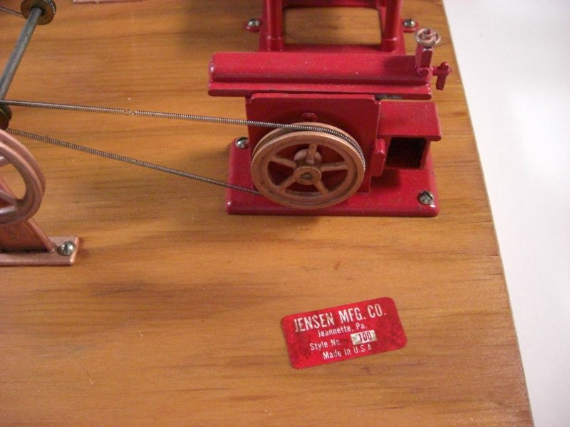 Image 1 of DV Jensen MFG Company Style 100 Steam Driven Manufacturing Plant Model