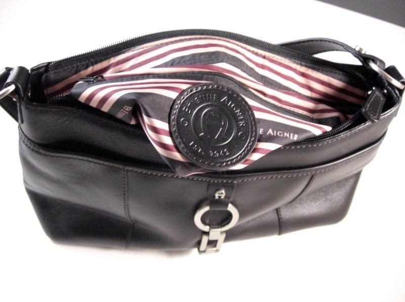 Image 3 of Etienne Aigner Black Leather Handbag Purse