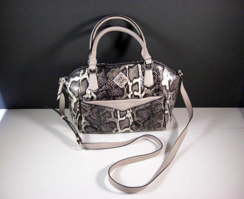 Image 0 of Simply Vera Wang Satchel Purse Shoulder Bag Handbag Faux Snakeskin