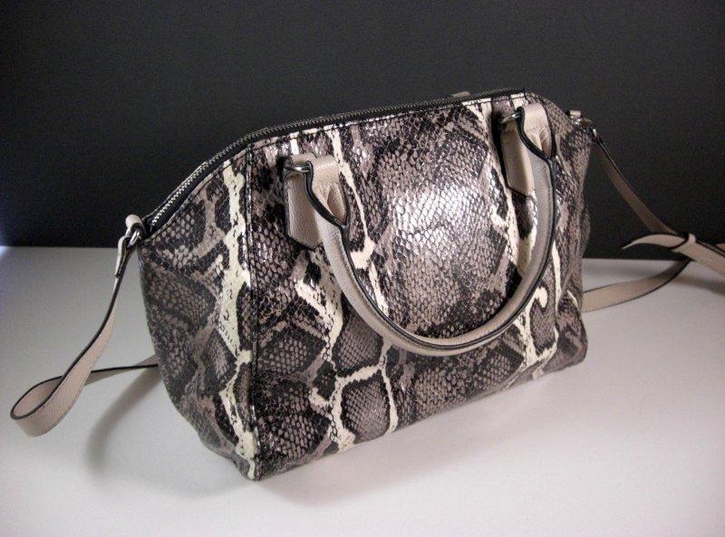 Image 1 of Simply Vera Wang Satchel Purse Shoulder Bag Handbag Faux Snakeskin