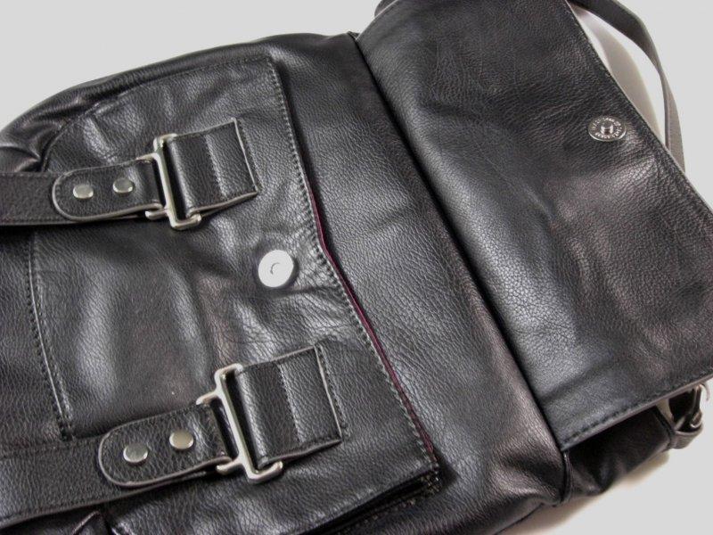 Image 3 of Nine West Black Faux Leather Crossbody Shoulder Bag / Messenger Bag