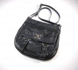 Nine West Black Faux Leather Crossbody Shoulder Bag / Messenger Bag