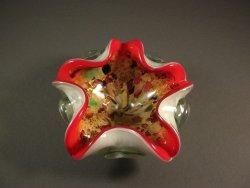 Italian Murano Venetian Art Glass Bowl Aventurine / Toso