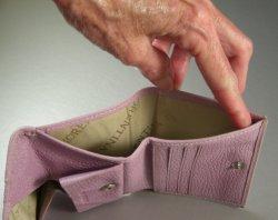 Italian Designer Cuoieria Fiorentina Lavender Leather Small Coin Wallet