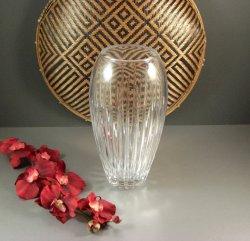 Vertical Cut Miller Rogaska Crystal 10 Vase / Signed