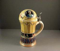 Hand Painted Corzelius Zeppelin Stein West Germany Limited Edition