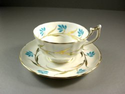 Royal Chelsea Handpainted English Bone China Cup and Saucer