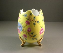 Baum Bros Formalities Large Egg Vase / Yellow Floral