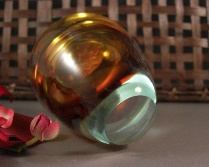 Image 5 of Barbini Sommerso Art Glass Table Lighter with ORIGINAL Tag 50s