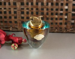 Barbini Sommerso Art Glass Table Lighter with ORIGINAL Tag 50s