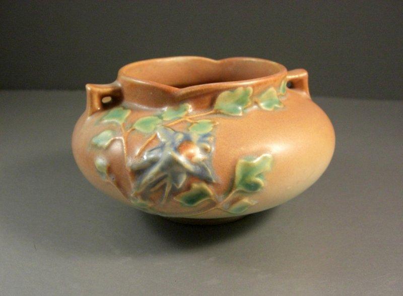 Image 0 of Roseville Pottery Columbine Jardiniere Planter 655-3