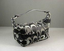 Mini COACH C Handbag Purse in BLACK