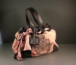 Juicy Couture PINK Velour Tote Purse Handbag Shoulder Bag