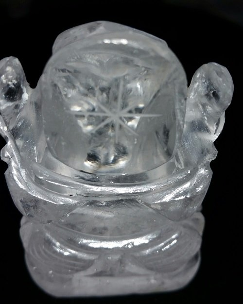Image 1 of Clear Quartz Ganeshe