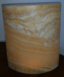 Onyx and Calcite Lamp - Yellow Marquis Design