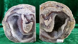 Dugway Geode Bookend Pair - Utah