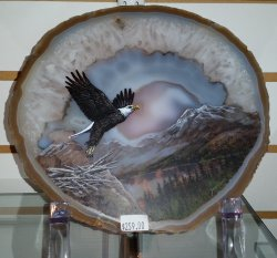 Eagle Painted on Agate