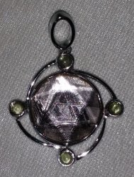 Swedish Meteorite and Moldavite Pendant