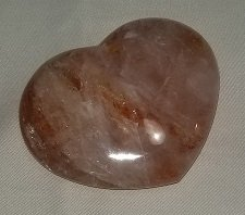 Image 0 of Hematite Quartz Heart - Brazil