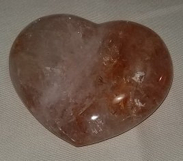 Image 1 of Hematite Quartz Heart - Brazil