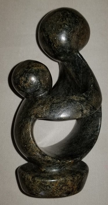 Image 0 of Soapstone Family of 2 Sculpture made in Zimbabwe