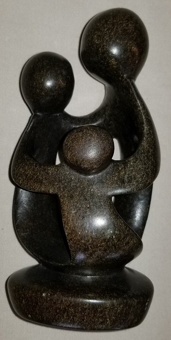 Image 0 of Soapstone Family of 3 Sculpture made in Zimbabwe