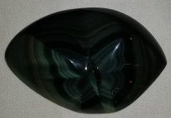 Carved Rainbow Obsidian Butterfly